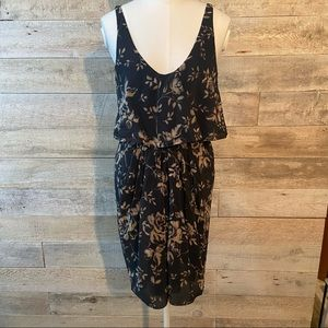 Aritzia T. Babaton silk floral dress in size small
